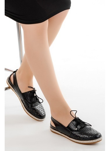 Ayakland Ayakland Cns 027 T.Lazerli Günlük Bayan Babet Ayakkabı Siyah